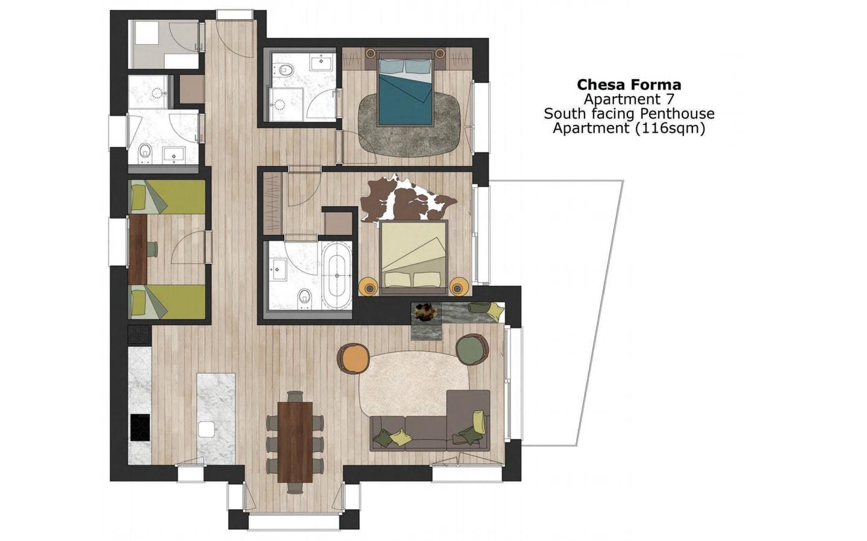 Chesa Forma, Arosa Floor Plan 001