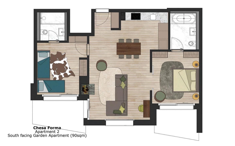 Chesa Forma, Arosa Floor Plan 002